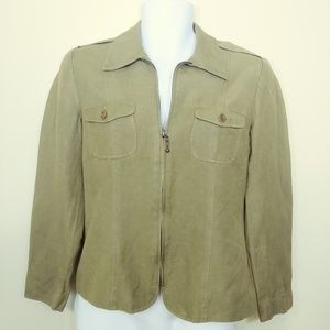 Womens Rafaella Sz 6 Blazer Coat Jacket, Military